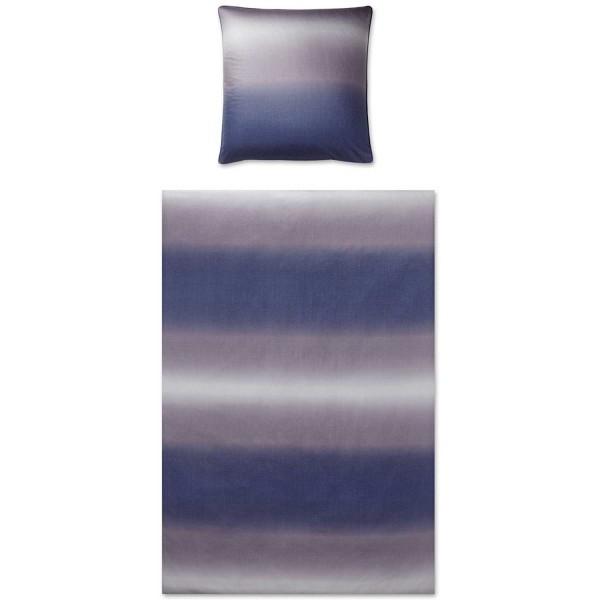 elegante Satin Horizont indigo 135x200+80x80