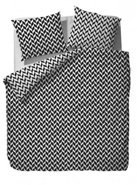 ESSENZA Satin Zepa Black 200x200+2x80x80