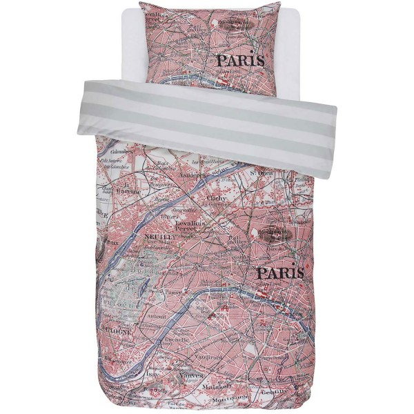 Covers & Co Renforcè Paris Citymap Multi 135x200+80x80