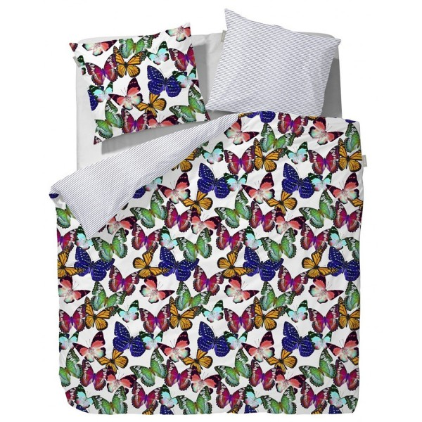 VANEZZA Satin Butterflies Multi 155x220+80x80