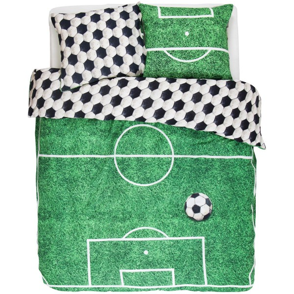 COVERS&CO Renforcé Soccer Green 135x200+80x80