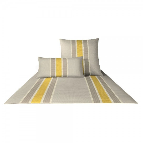 JOOP! Satin Fashion Stripes golden yellow 155x220+80x80